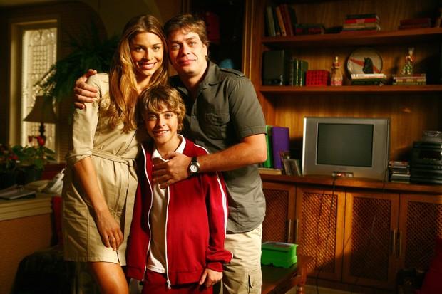 Eike Duarte com Grazi Massafera e Fábio Assunção (Foto: Fabrício Mota/TV Globo)