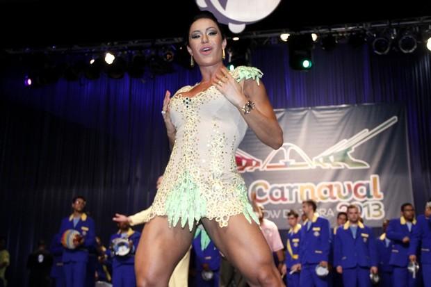 Gracyanne Barbosa em lançamento de CD no Rio (Foto: Roberto Filho/ Ag. News)