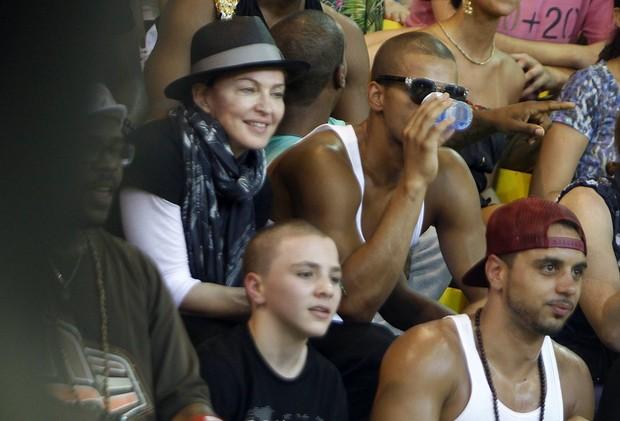 Madonna no AfroReggae (Foto: Francisco Silva / AgNews)