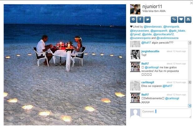 Neymar posta foto romântica (Foto: Reprodução/Instagram)