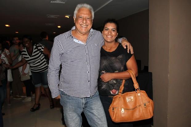 Antonio Fagundes com a filha no show de Sandy (Foto: Manuela Scarpa/Foto Rionews)
