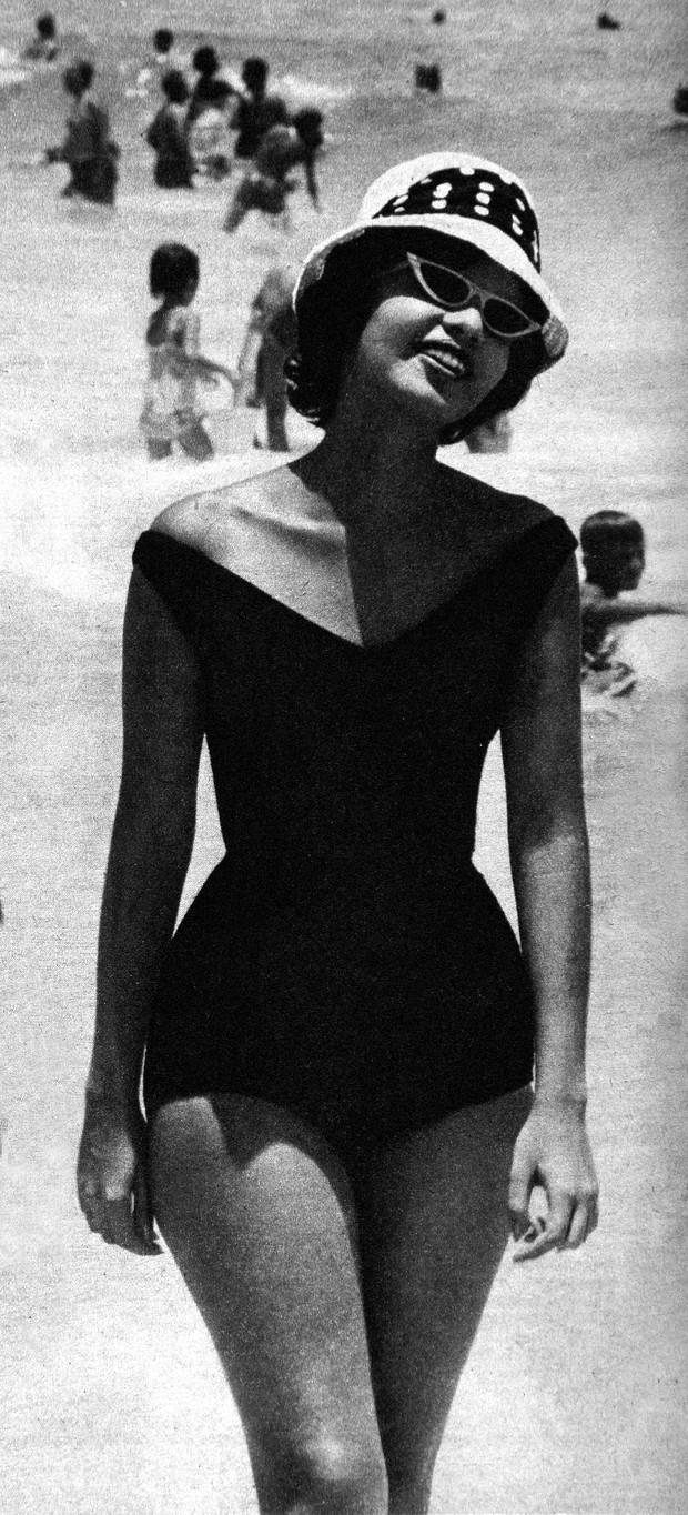 Moda da praia Ipanema - 1950 - o Cruzeiro (Foto: Divulgação)