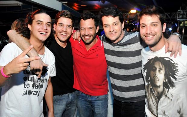 Guilherme Boury, Marco Pigossi, Malvino Salvador, Marcelo Serrado e Marco Antonio Gimenez (Foto: Ari Kaye/Divulgação)