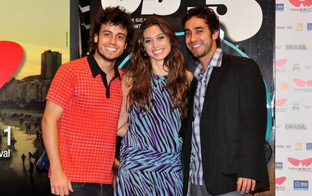 Gabriel Godoy, Juliana Schalch e Vitor Mendes no Festival do Rio - 17/10/2011 (Foto: Roberto Teixeira / EGO)