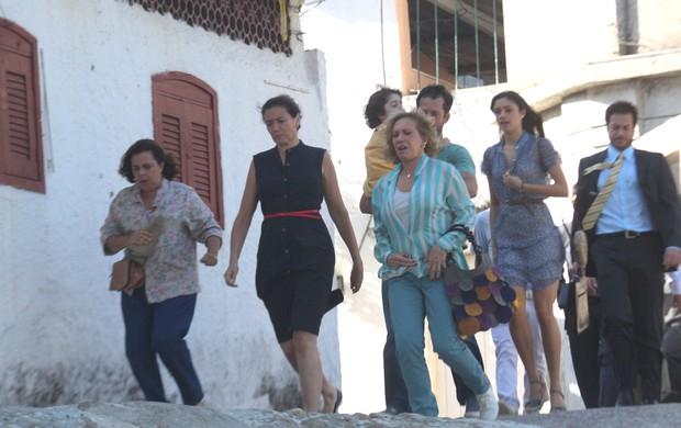 "Elenco grava ""Fina Estampa"" (Foto: Marcos Ferreira/Photo Rio News)"