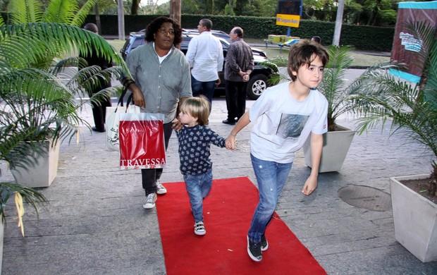 Filhos da Fernanda Torres (Foto: Alex Palarea/AgNews)