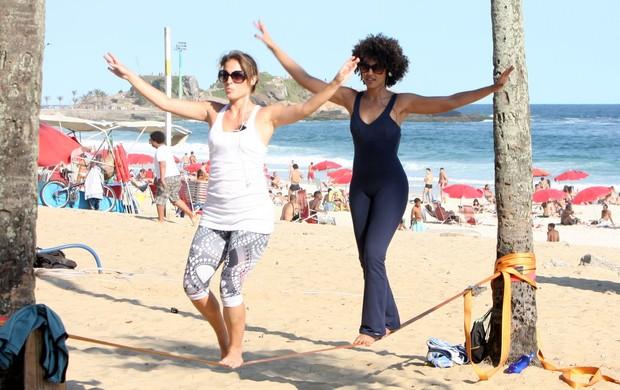 Sheron Menezes e Maíra Chaquen  (Foto: Gil Rodrigues / Photo Rio News)