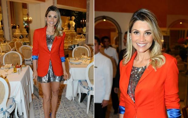 Flávia Alessandra em evento em Brasília (Foto: Francisco Cepeda / AgNews)