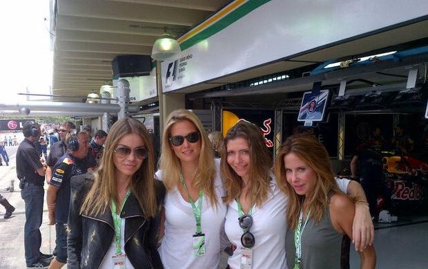 Bar Refaeli na F1 (Foto: Reprodução/ Twitter)
