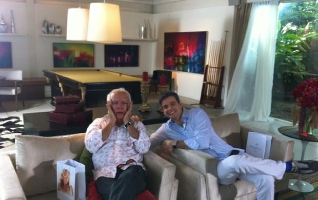 Ney Latorraca e Otaviano Costa (Foto: Reprodução/ Twitter)