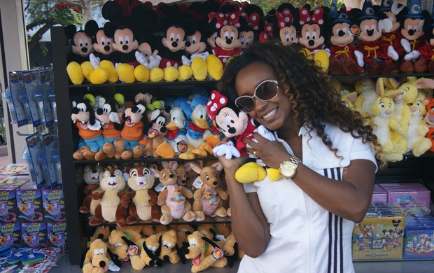 Vania Love na Disney (Foto: Divulgação)