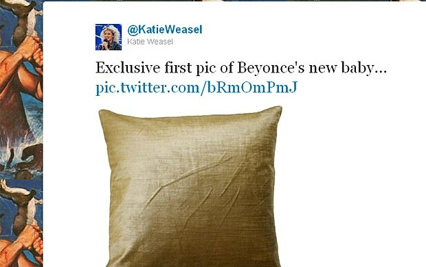 Usuários do Twitter fazem piada com nascimento do filho de Beyoncé (Foto: Twitter/Reprodução)