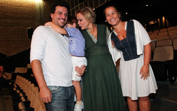 Rodrigo Lombardi e familia (Foto: Manuela Scarpa/Photo Rio News)