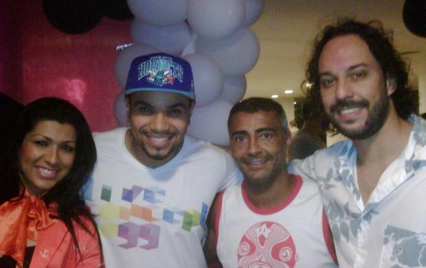 Naldo, Romário e Gabriel Pensador (Foto: Divulgação)