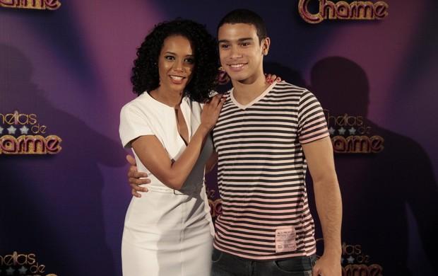 Taís Araújo e Sérgio Malheiros na coletiva da novela 'Cheias de Charme' (Foto: Isac luz / EGO)