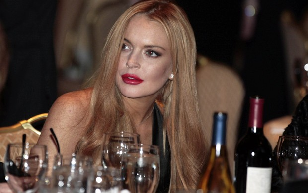 Lindsay Lohan em jantar na Casa Branca (Foto: Agência/ Reuters)