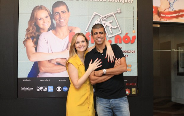 Fernanda Rodrigues e Marcius Melhem (Foto: Raphael Mesquita/Photorio News)