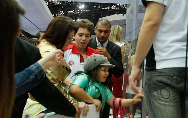 Symony e a filha em evento em São Paulo (Foto: Amauri Nehn/AgNews)