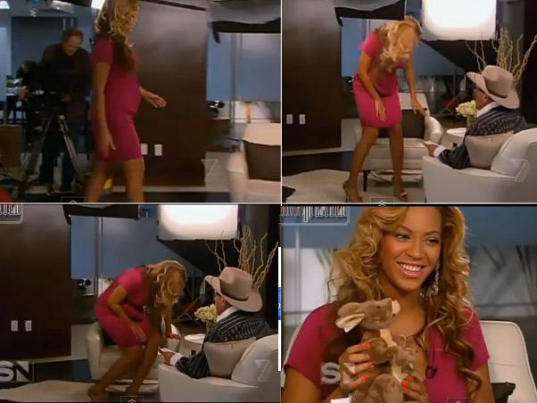Beyoncé: barriga falsa? (Foto: Reprodução)