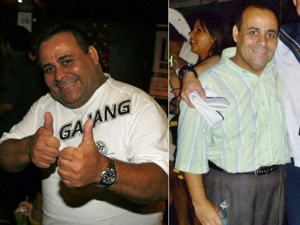 Antes e depois ex-BBB Agustinho (Foto: Anderson Borde e Roberto Ciprino/Roberto Paes-Divulgação)