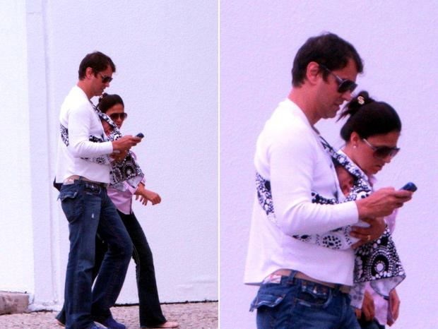 Marcello Antony e Carolina Hollinger Villar aparecem pela primeira vez com o filho Lorenzo, no Rio de Janeiro (Foto: Delson Silva / Ag News)