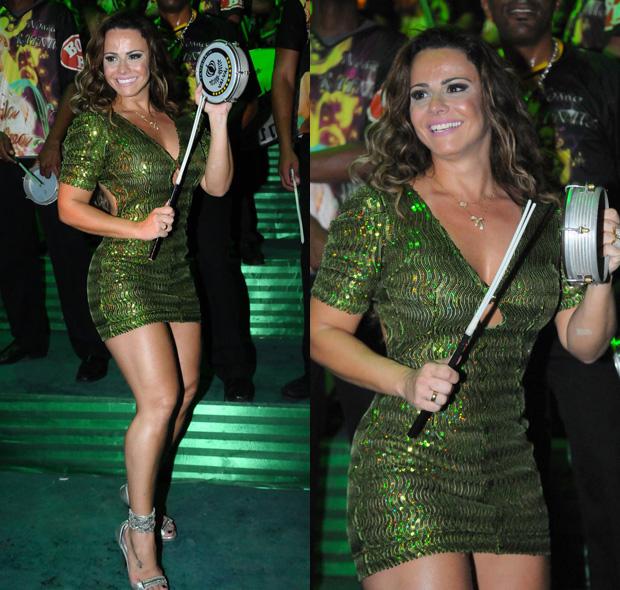 Viviane Araújo no ensaio da Mancha Verde - 23/10/2011 (Foto: AgNews/Franciso Cepeda)