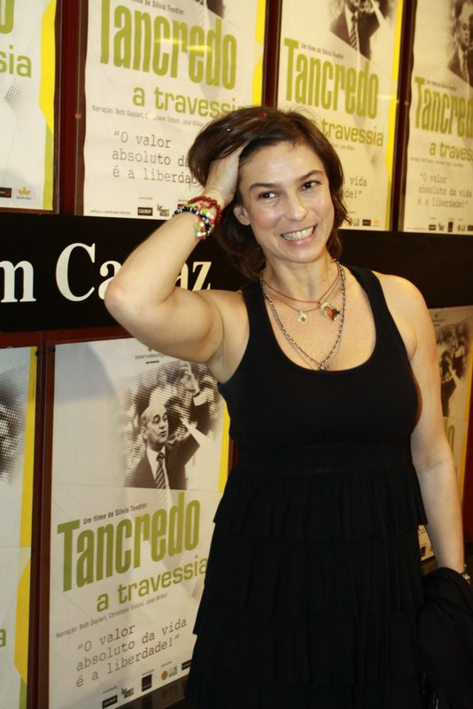 Maria Paula na pré-estreia do documentário 'Tancredo, a travessia' no Rio. (Foto: Anderson Borde/ Ag. News)