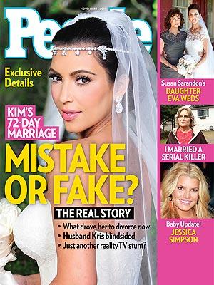"Kim Kardashian na capa da revista ""People"" (Foto: Reprodução / People)"