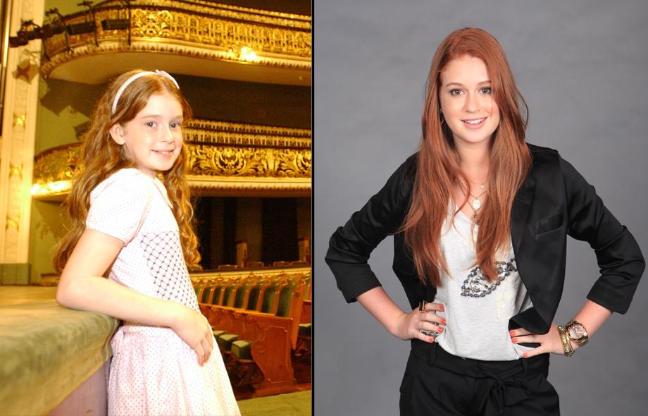 Marina Ruy Barbosa era uma criança quando apareceu na mídia em 'Belissíma' de 2005. Hoje, a atriz chama a atenção por sua beleza incompáravel aos 16 anos.