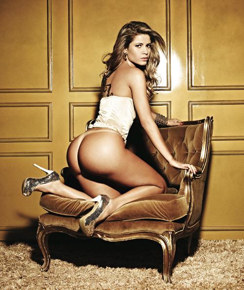 O bumbum da ex-BBB Cacau faz tanto sucesso que ela repetiu a dose na 'Playboy' e posou nua pela segunda vez