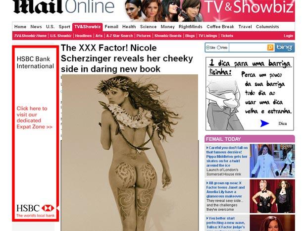 Nicole Scherzinger mostrou seu derrière em fotos para o livro 'Culo', só de bumbuns