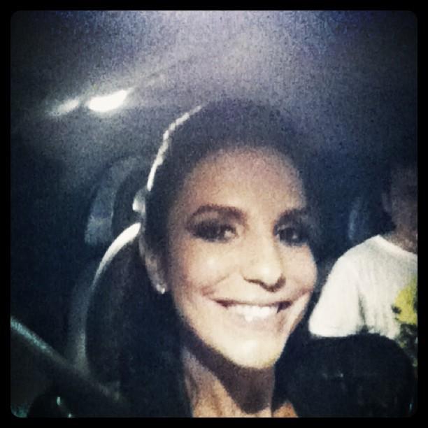 Ivete Sangalo posta foto antes de show no Rio (Foto: Reprodução/Twitter)