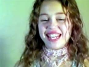 Teste de Miley Cyrus para o Disney Channel (Foto: Reprodução/You Tube)