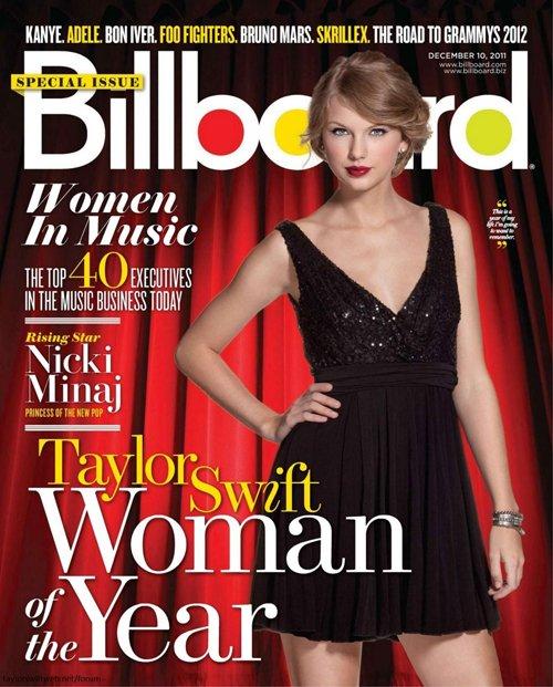 "A cantora Taylor Swift na capa da ""Billboard"" (Foto: Reprodução / Twitter)"