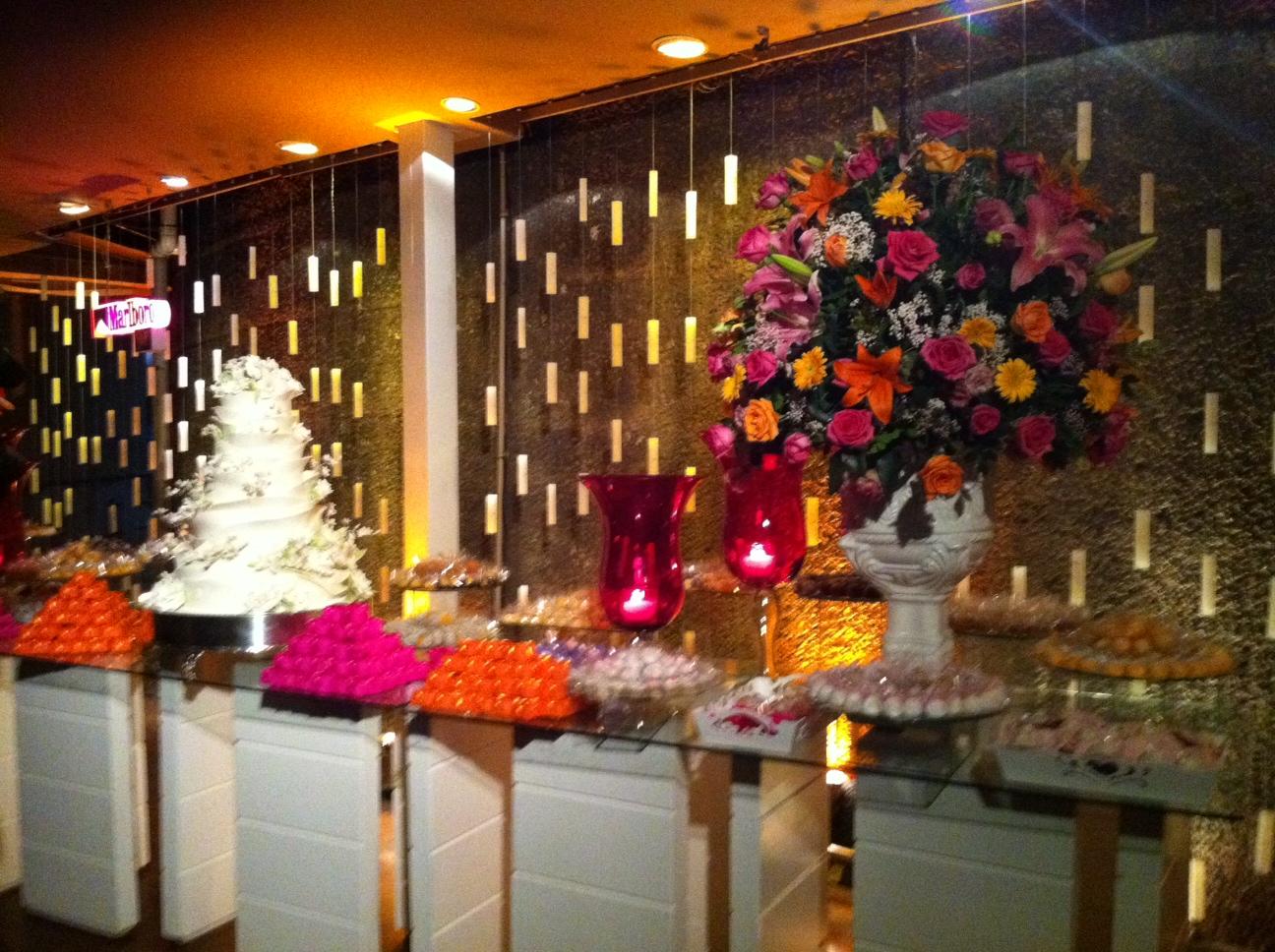 Detalhe da decoração da festa