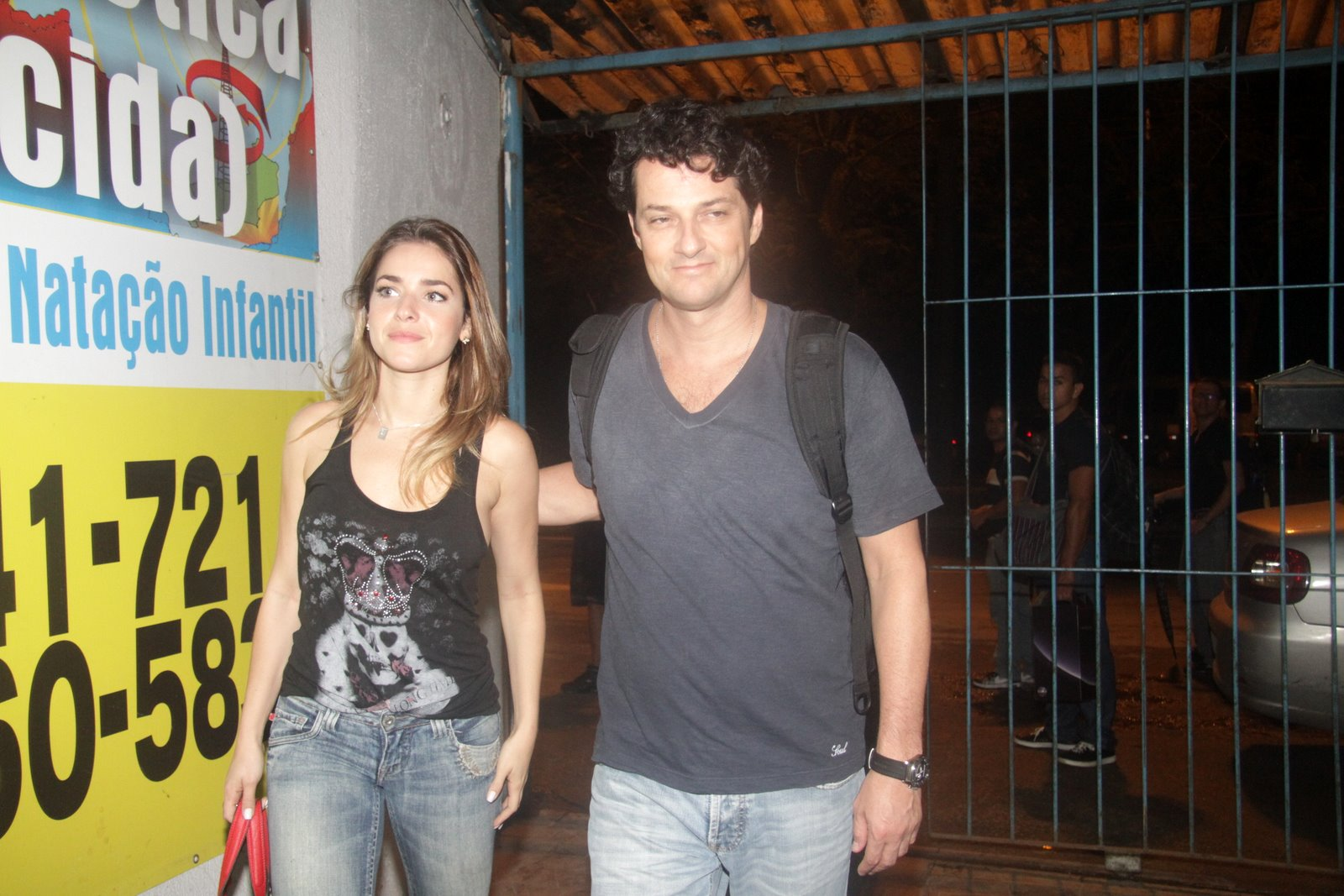 Monique Alfradique e Marcelo Serrado