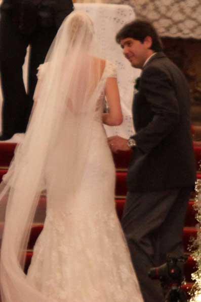 O encontro dos noivos no altar