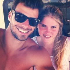 Barbara Evans e Lucas Malvacini (Foto: Reprodução/Twitter)