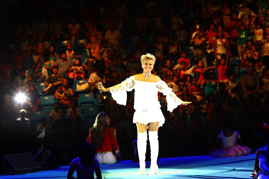 Xuxa levou milhares de crianças ao Ginásio do Ibirapuera, em São Paulo, nesta quarta-feira, 22