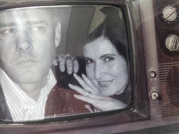 William Bonner e Fátima Bernardes em Londres, em 2008 (Foto: Reprodução/Twitter)