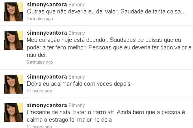 Simony desabafa no Twitter (Foto: Reprodução/Twitter)