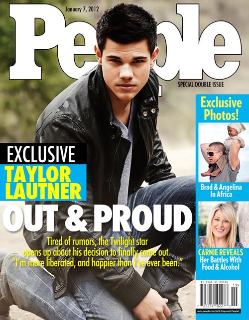 Capa falsa com Taylor Lautner (Foto: Reprodução)