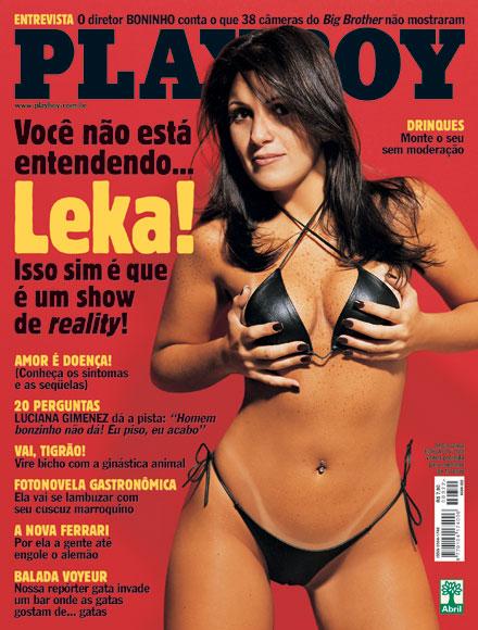 """Leka foi a primeira BBB a posar nua: ela estampou a edição de maio da """"Playboy"""", em 2002"""