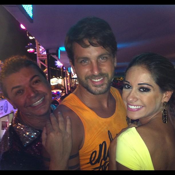 Diogo, David Brazil e Mayra (Foto: Reprodução/Twitter)
