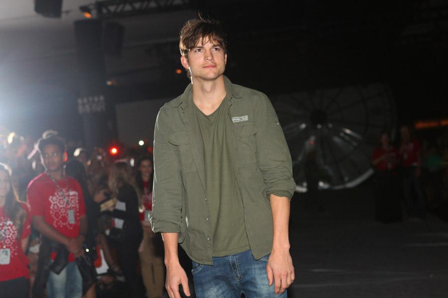 Ashton Kutcher na SPFW