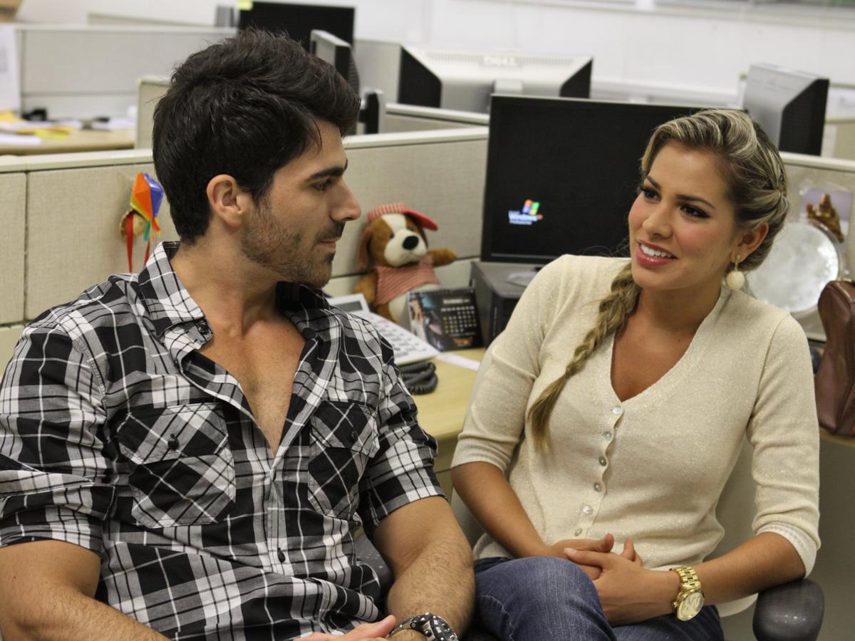 Rodrigão e Adriana estiveram na redação do EGO, no Rio, para comentar o Paredão entre Fael e Mayara
