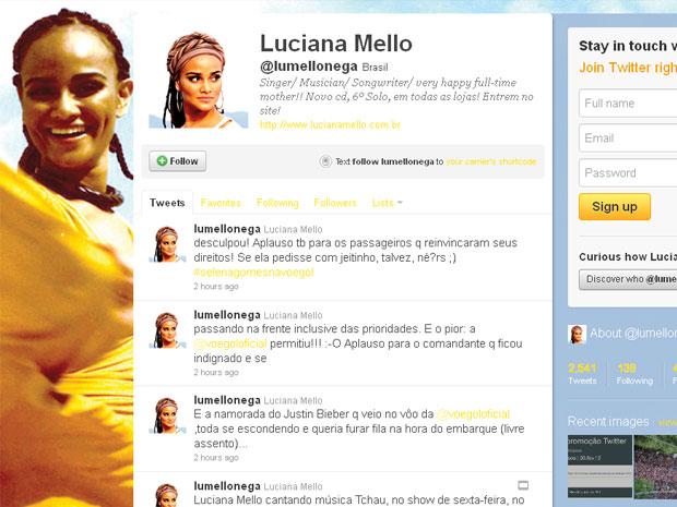 Luciana Mello fala de Selana Gomez no Twitter (Foto: Reprodução/Twitter)