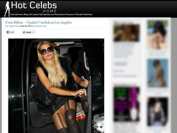 Paris Hilton pagando calcinha (Foto: Reprodução)