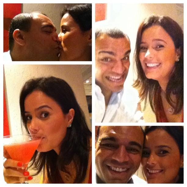 Luciele Di Camargo mostra jantar romântico com Denilson no Twitter (Foto: Reprodução/Twitter)