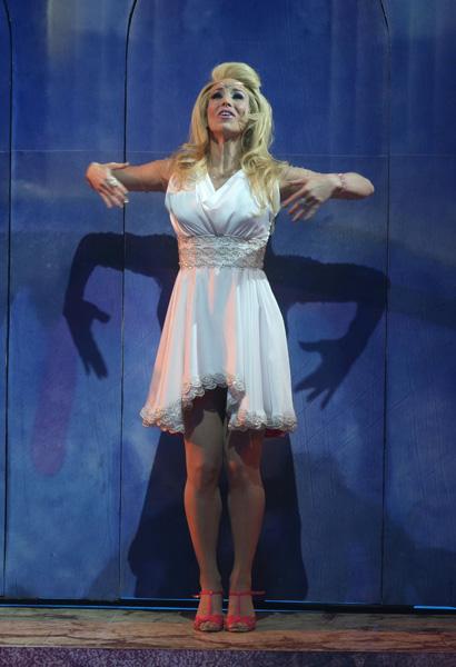Nesta quinta-feira, 16, Danielle Winits voltou aos palcos com o musical 'Xanadu'. No dia 28 de janeiro, a atriz e Thiago Fragoso despencaram de uma altura de cinco metros por conta do rompimento de quatro cabos de aço durante uma cena de voo dos atores